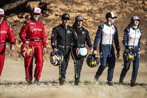 Laia Sanz, Acciona | Sainz XE Team, Sebastien Loeb, X44, Cristina Gutierrez, X44, Timmy Hansen, Andretti United Extreme E, and Catie Munnings, Andretti United Extreme E