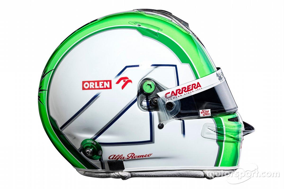 Il casco di Antonio Giovinazzi, Alfa Romeo Racing