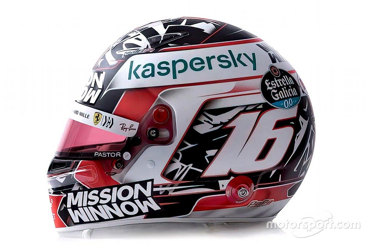 Il casco di Charles Leclerc, Ferrari