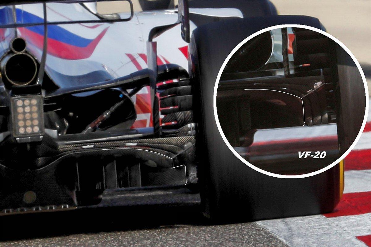 Detalle del difusor del Haas VF-21
