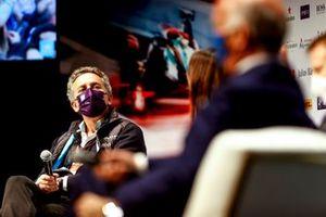Alejandro Agag, CEO, Formula E, Mayor of Rome VIrginia Raggi, in the Press Conference
