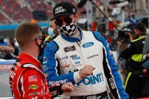 Justin Allgaier, JR Motorsports, Chevrolet Camaro BRANDT, Chase Briscoe, Stewart-Haas Racing, Ford Mustang HighPoint.com