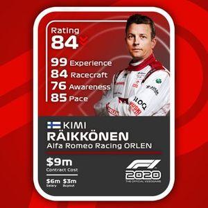 Cartas del F1 2020 definitivas: Kimi Raikkonen