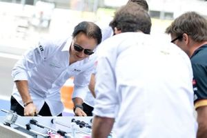 Felipe Massa, Venturi, Edoardo Mortara, Venturi play table football against Jean-Eric Vergne, DS Techeetah, Antonio Felix da Costa, DS Techeetah