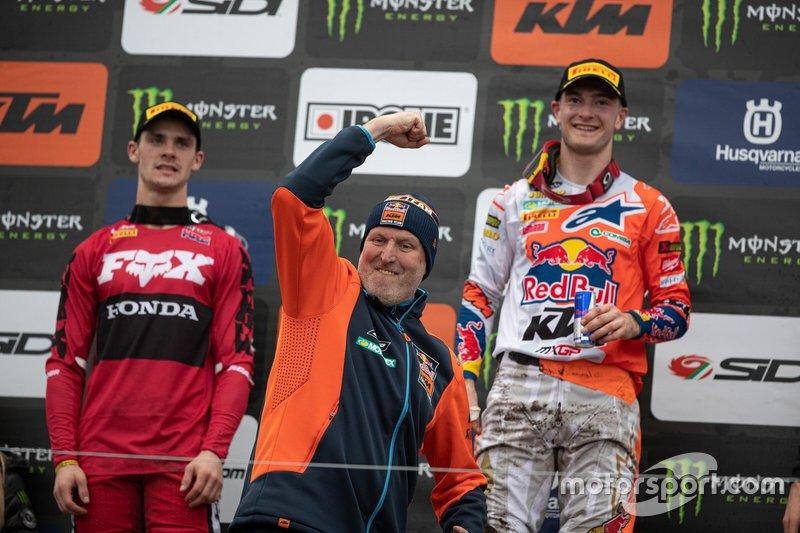 Dirk Gruebel , jefe de equipo de Red Bull KTM Factory Racing y Jeffrey Herlings, Red Bull KTM Factory Racing