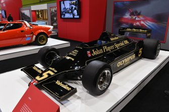 Mario Andretti's Lotus 79 on the Autosport stand