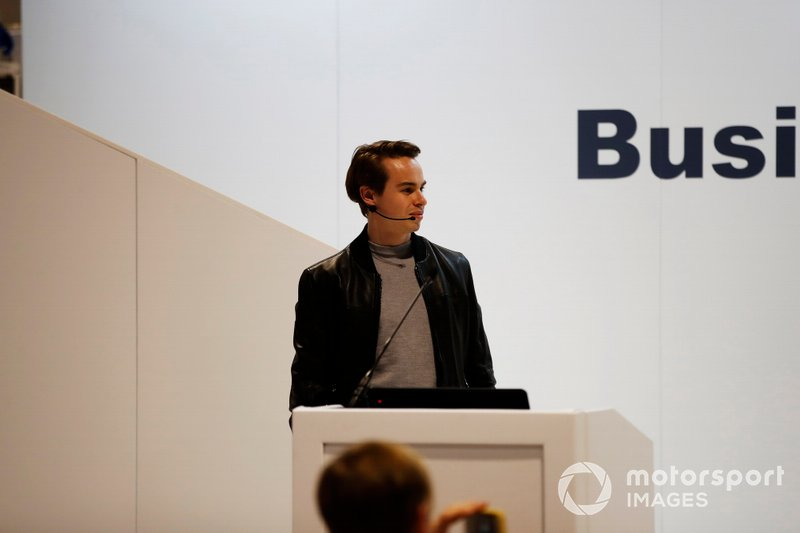 Richard Morris delivers a talk about Racing Pride at the Business Forum