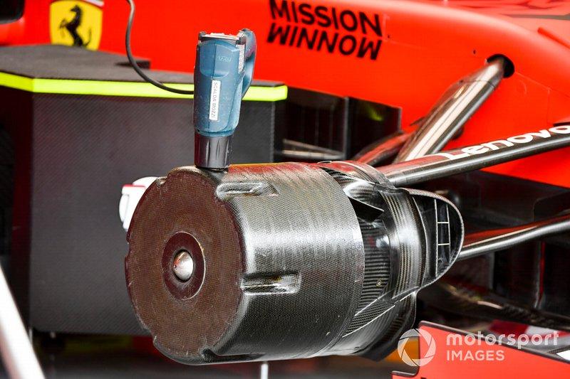 Dettaglio di un cestello dei freni Ferrari