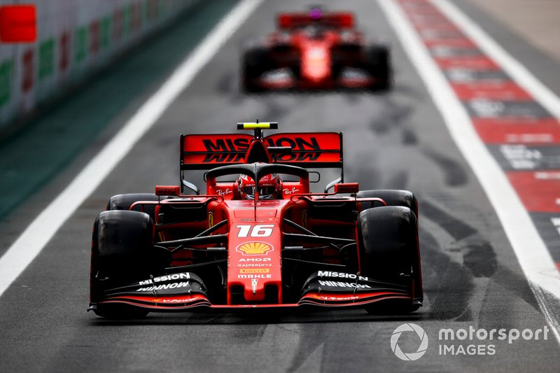 Charles Leclerc, Ferrari SF90 e Sebastian Vettel, Ferrari SF90
