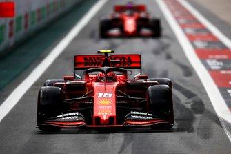 Charles Leclerc, Ferrari SF90 and Sebastian Vettel, Ferrari SF90