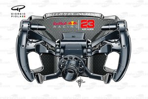Red Bull Racing RB15, steering wheel Alexander Albon