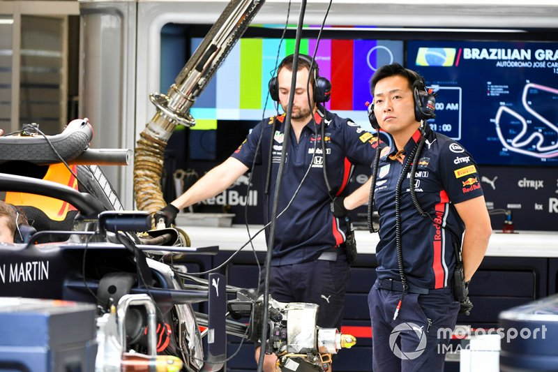 Red Bull Engineer in the garage