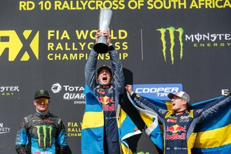 Top 3 der Rallycross-WM 2019: 1. Timmy Hansen, 2. Andreas Bakkerud, 3. Kevin Hansen
