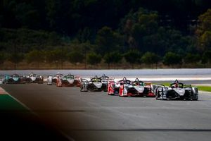 Sébastien Buemi, Nissan e.Dams, Nissan IMO2, Daniel Abt, Audi Sport ABT Schaeffler, Audi e-tron FE06, Pascal Wehrlein, Mahindra Racing, M6Electro, Oliver Rowland, Nissan e.Dams, Nissan IMO2