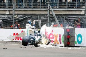 Valtteri Bottas, Mercedes AMG W10 after the crash