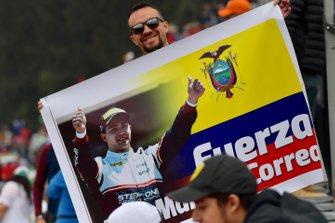A fan of F2 racer Juan Manuel Correa