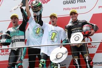 Podium : le vainqueur Lorenzo Dalla Porta, Leopard Racing, le deuxième Marcos Ramirez, Leopard Racing, le troisième Albert Arenas, Ángel Nieto Team