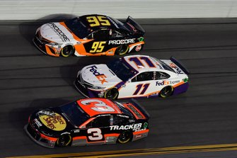 Austin Dillon, Richard Childress Racing, Chevrolet Camaro Bass Pro Shops/Tracker OffRoad, Christopher Bell, Leavine Family Racing, Toyota Camry Procore, Denny Hamlin, Joe Gibbs Racing, Toyota Camry FedEx Express