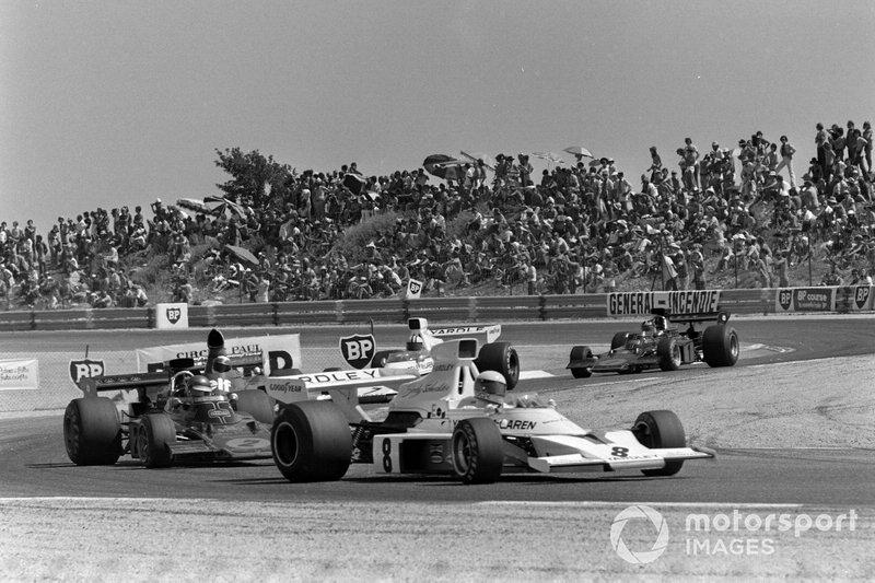 Renn-Action beim GP Frankreich 1973 in Le Castellet