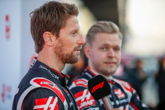 Romain Grosjean, Haas F1 Team and Kevin Magnussen, Haas F1 Team