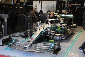 Mercedes AMG F1 W10 in garage