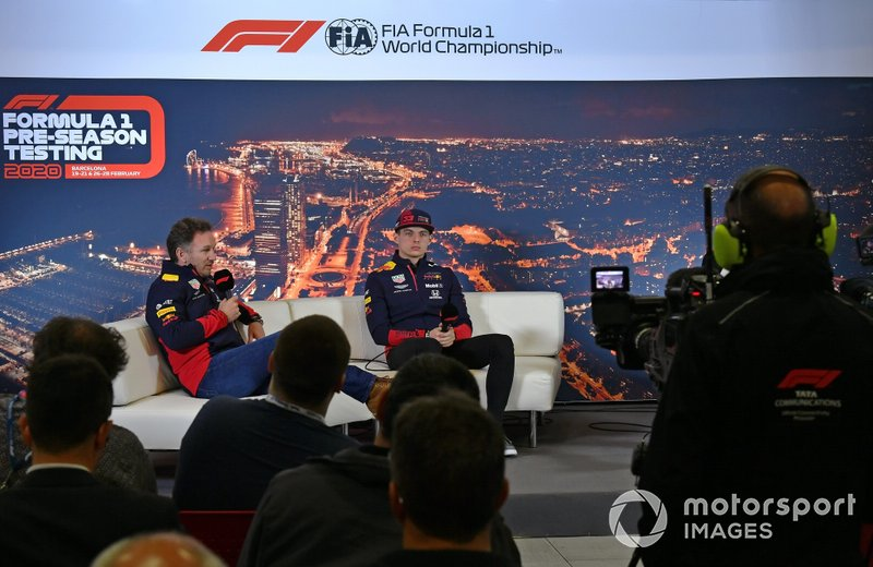 Christian Horner, Team Principal, Red Bull Racing, Max Verstappen, Red Bull Racing