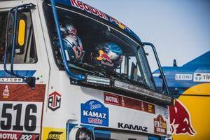 #516 Team KAMAZ Master: Anton Shibalov, Dmitrii Nikitin, Ivan Tatarinov, helmets