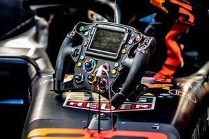 Steering wheel of Alex Albon, Red Bull Racing