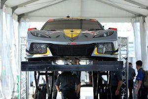 #4 Corvette Racing Corvette C8.R: Oliver Gavin, Tommy Milner, Marcel Fässler goes through Technical Inspection