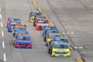 Matt Crafton, ThorSport Racing, Toyota Tundra Zep/Menards, Sheldon Creed, GMS Racing, Chevrolet Silverado Liftkits4less.com