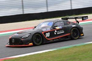 #90 Antonelli/AKM Motorsport, Mercedes-AMG GT3: Luca Segù, Bar Baruch