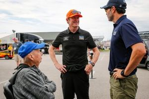 Robin Miller, Jimmie Johnson, Chip Ganassi Racing Honda, Scott Dixon, Chip Ganassi Racing Honda