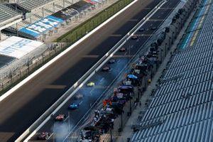 Will Power, Team Penske ChevroletSimon Pagenaud, Team Penske Chevrolet, Alex Palou, Chip Ganassi Racing Honda