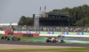 Kimi Raikkonen, Alfa Romeo Racing C41, Pierre Gasly, AlphaTauri AT02, Sergio Perez, Red Bull Racing RB16B, and Antonio Giovinazzi, Alfa Romeo Racing C41