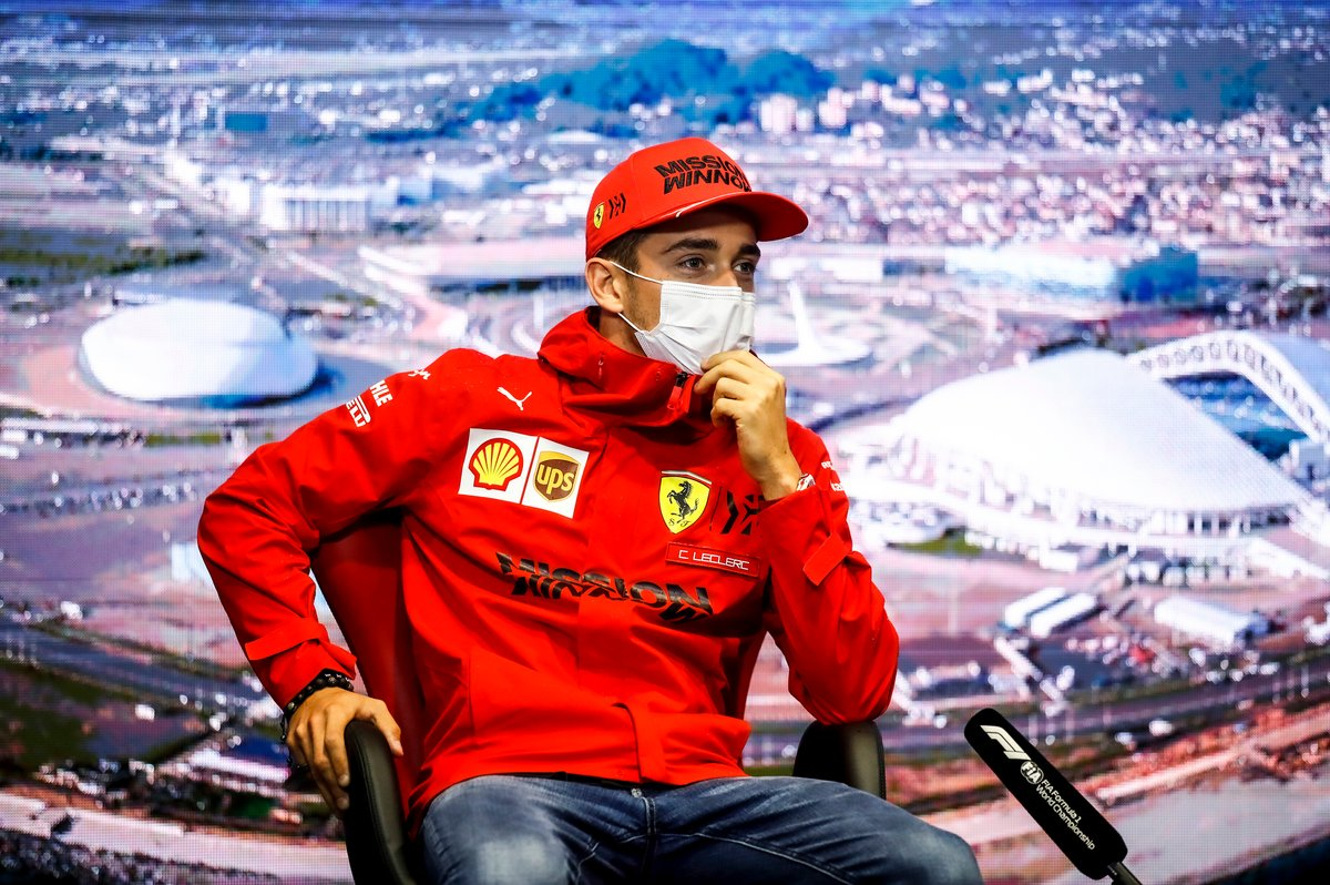 Charles Leclerc, Ferrari in conferenza stampa