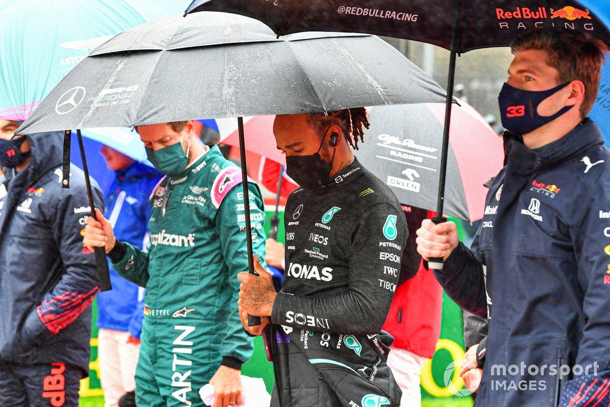 Sebastian Vettel, Aston Martin, Lewis Hamilton, Mercedes, Max Verstappen, Red Bull Racing