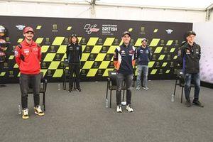 Francesco Bagnaia, Pol Espargaro, Fabio Quartararo, mit Marco Bezzecchi, Moto2, und Romano Fenati; Moto3