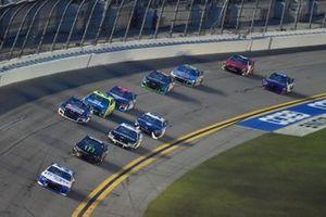 Ryan Preece, JTG Daugherty Racing, Chevrolet Camaro Kroger/Coca-Cola, Kurt Busch, Chip Ganassi Racing, Chevrolet Camaro Monster Energy