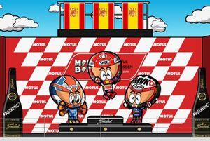 El podio del GP de Holanda de MotoGP 2018, por MiniBikers