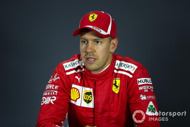 Sebastian Vettel, Ferrari lors de la conférence de presse