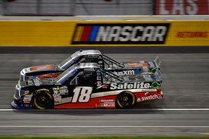Noah Gragson, Kyle Busch Motorsports, Toyota Tundra Safelite AutoGlass and Todd Gilliland, Kyle Busch Motorsports, Toyota Tundra JBL/SiriusXM