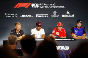 Kevin Magnussen, Haas F1 Team, Lewis Hamilton, Mercedes AMG F1, Kimi Raikkonen, Ferrari, Brendon Hartley, Scuderia Toro Rosso