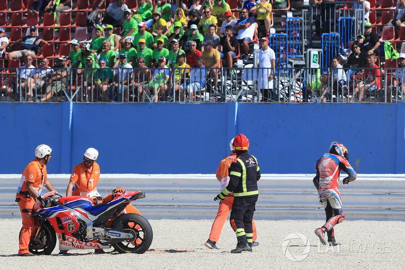 La caduta di Stefan Bradl, HRC Honda Team