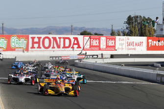 Ryan Hunter-Reay, Andretti Autosport Honda leidt na de start