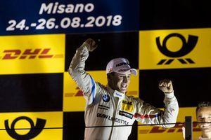 Podium: Race winner Joel Eriksson, BMW Team RBM