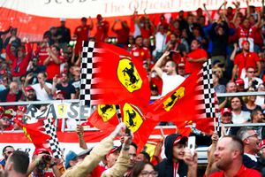 Ferrari fans go wild as the team locks out the front row in Qualifying