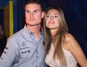 David Coulthard, McLaren with Simone Abdelnour at Baja Club