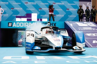 Antonio Felix da Costa, BMW I Andretti Motorsports, BMW iFE.18 pulls up in front of the podium