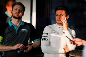 Mitch Evans, Panasonic Jaguar Racing in the garage