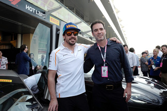 Jimmie Johnson with Fernando Alsonso, McLaren